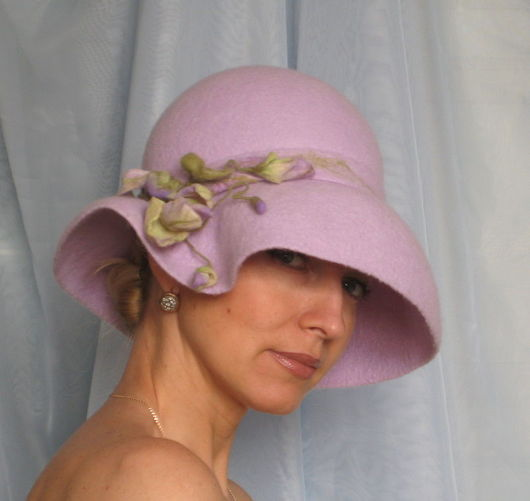 """Шляпы ручной работы. Ярмарка Мастеров - ручная работа. Купить Дамская шляпка """"Застенчивая"""" из коллекции """"Холли"""". Handmade. Женская шляпка"""