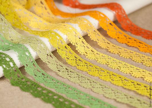 Шитье ручной работы. Ярмарка Мастеров - ручная работа. Купить Льняное кружево 25 мм, 24 цвета. Handmade. Кружево