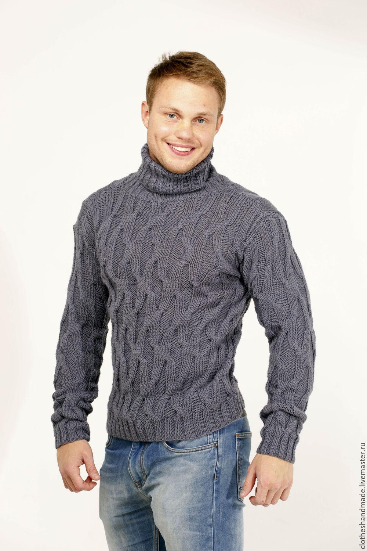 Вязание молодёжного мужского свитера