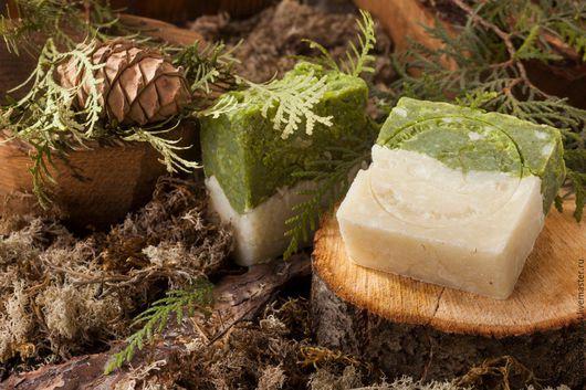 Мыло ручной работы. Ярмарка Мастеров - ручная работа. Купить Натуральное эко-мыло Кипарис. Handmade. Зеленый, мыло в подарок