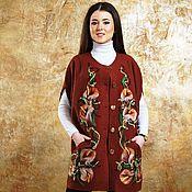Одежда ручной работы. Ярмарка Мастеров - ручная работа Жилет свободного покроя Ирина. Handmade.