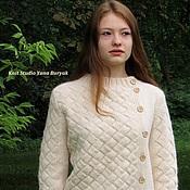 Одежда ручной работы. Ярмарка Мастеров - ручная работа Жакет в технике энтрелак плетение. Handmade.