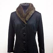 Одежда handmade. Livemaster - original item Winter coat insulation with mink collar
