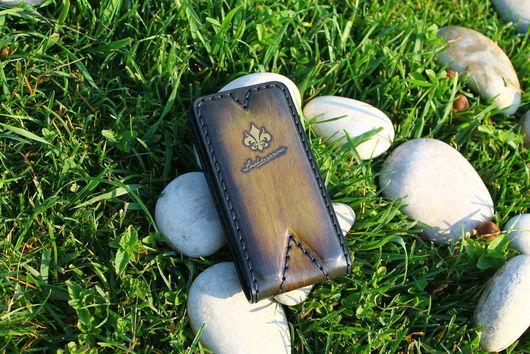 Для телефонов ручной работы. Ярмарка Мастеров - ручная работа. Купить Чехол для iPhone 4/4s из Кожи Ручной работы № 25i. Handmade.
