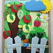 """Куклы и игрушки ручной работы. Ярмарка Мастеров - ручная работа Развивающий планшет """"Урожай"""" с дополнительным планшетом для счёта. Handmade."""