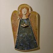 Подарки к праздникам ручной работы. Ярмарка Мастеров - ручная работа Ангел с жемчужиной  Керамика. Handmade.