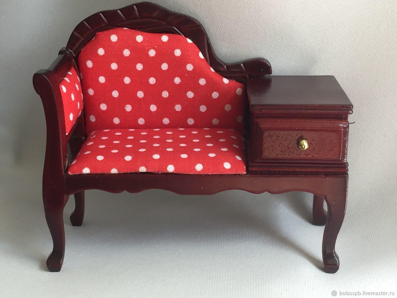 Мебель для кукол диван кресло в кукольный домик, Мебель для кукол, Санкт-Петербург,  Фото №1