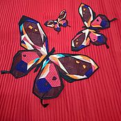 """Материалы для творчества ручной работы. Ярмарка Мастеров - ручная работа Вышивка на капроне """" Бабочки """". Handmade."""