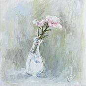 Картины и панно ручной работы. Ярмарка Мастеров - ручная работа Просто цветочек на окне. Handmade.
