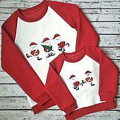 """Одежда ручной работы. Ярмарка Мастеров - ручная работа Фэмилилук """"Funny Santa». Handmade."""