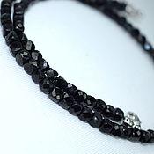 Работы для детей, handmade. Livemaster - original item Beads natural black spinel cut. Handmade.