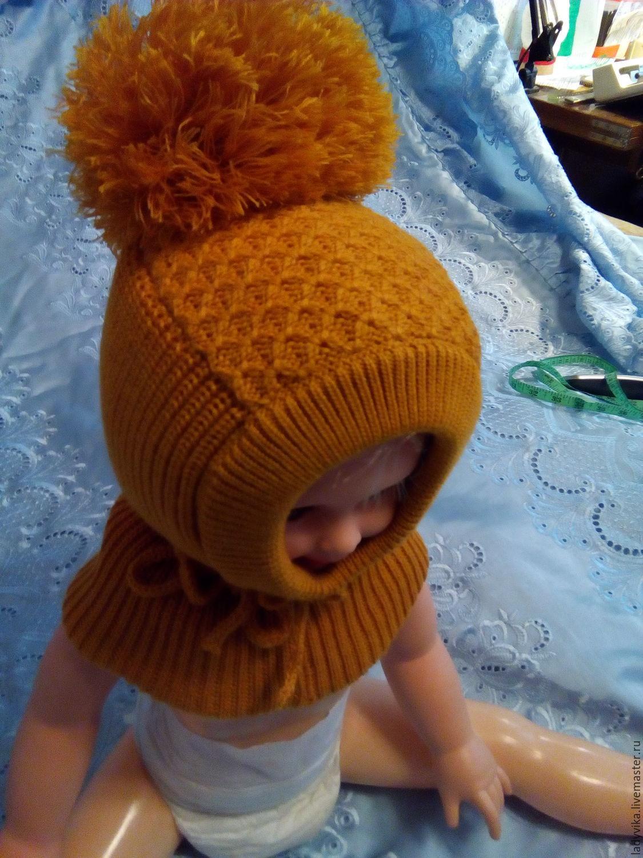 Вязание шапка-шлем мастер-класс