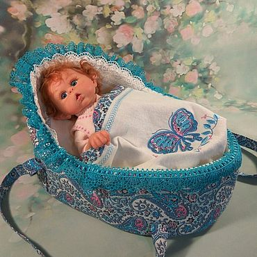 Dolls & toys handmade. Livemaster - original item Cradle - carrying for mini dolls .. Handmade.