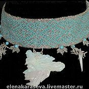 Украшения handmade. Livemaster - original item Necklace of beads with opal. Handmade.