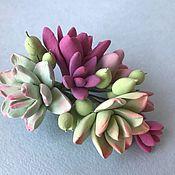 Украшения handmade. Livemaster - original item Barrette with succulents. Handmade.