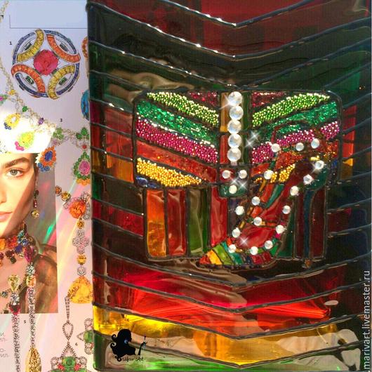Вазы ручной работы. Ярмарка Мастеров - ручная работа. Купить Valentino's rainbow. Handmade. Разноцветный, радуга, 8 марта подарок