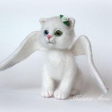 Куклы и игрушки ручной работы. Ярмарка Мастеров - ручная работа Белый Ангел в которого верят все коты и кошки!!!. Handmade.