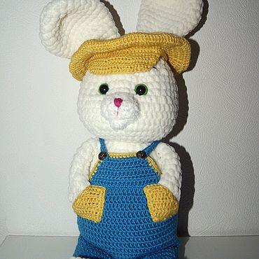 Куклы и игрушки ручной работы. Ярмарка Мастеров - ручная работа Плюшевый зайчик- хулиганчик. Handmade.