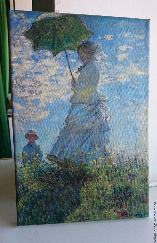 Люди, ручной работы. Ярмарка Мастеров - ручная работа. Купить «Женщина с зонтиком - мадам Моне и ее сын» Клод Моне. Handmade.