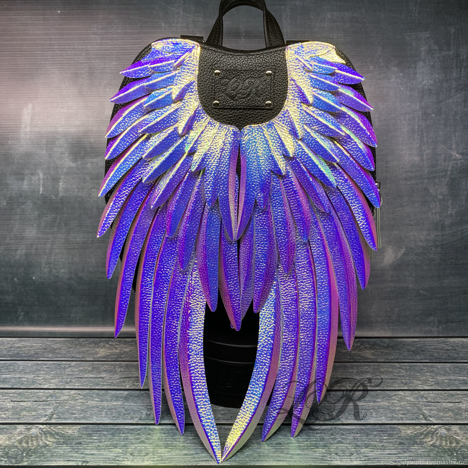 Women's leather backpack ' Rainbow Angel', Backpacks, Moscow,  Фото №1