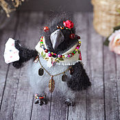 Куклы и игрушки handmade. Livemaster - original item crow Karma knitted. Handmade.