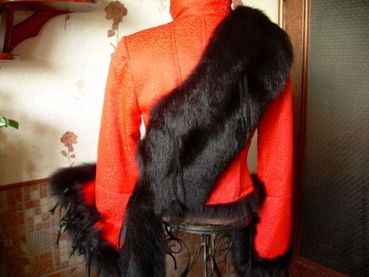 """Верхняя одежда ручной работы. Ярмарка Мастеров - ручная работа. Купить Утепленная куртка с мехом лисы """" КАРМЕН"""". Handmade."""