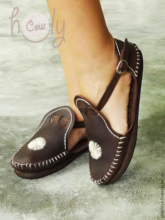 """Обувь ручной работы. Ярмарка Мастеров - ручная работа. Купить Коричневые кожаные сандалии """"Crazy Love"""". Handmade. Коричневый"""