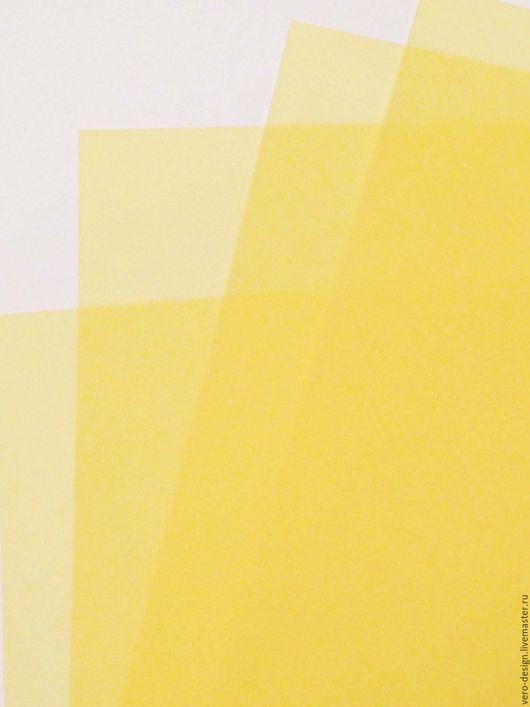 Открытки и скрапбукинг ручной работы. Ярмарка Мастеров - ручная работа. Купить Калька (Веллум) SPECTRAL 30 Х 30 см, МЕДОВАЯ, 100 гр/м. Handmade.