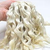 Материалы для творчества handmade. Livemaster - original item Hair for dolls (white, natural, washed) Locks Curls dolls. Handmade.