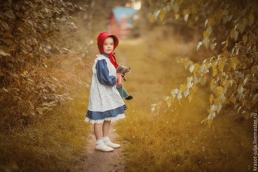 Одежда для девочек, ручной работы. Ярмарка Мастеров - ручная работа. Купить Красная Шапочка . Костюм : платье, сарафан, чепчик.. Handmade.