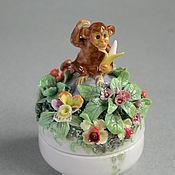 Для дома и интерьера ручной работы. Ярмарка Мастеров - ручная работа Шкатулка с обезьянкой. Handmade.