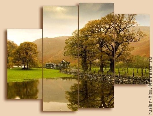 Абстракция ручной работы. Ярмарка Мастеров - ручная работа. Купить Британский пейзаж. Handmade. Оливковый, картина, купить подарок, продажа