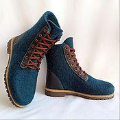 Обувь ручной работы handmade. Livemaster - original item All-steel petrol boots with leather heel. Handmade.