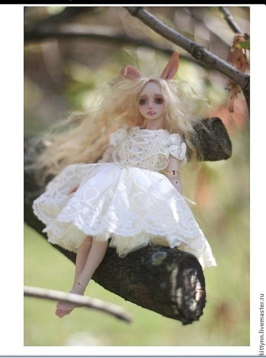 Коллекционные куклы ручной работы. Ярмарка Мастеров - ручная работа. Купить Снежная зайка.. Handmade. Белый, шарнирная, кукла, полиуретан