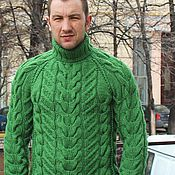 """Одежда ручной работы. Ярмарка Мастеров - ручная работа свитер """"Добрый""""зеленый. Handmade."""