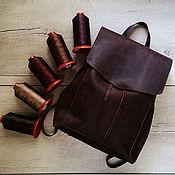 Сумки и аксессуары ручной работы. Ярмарка Мастеров - ручная работа Повседневный кожаный рюкзак Gemini для путешествий. Handmade.