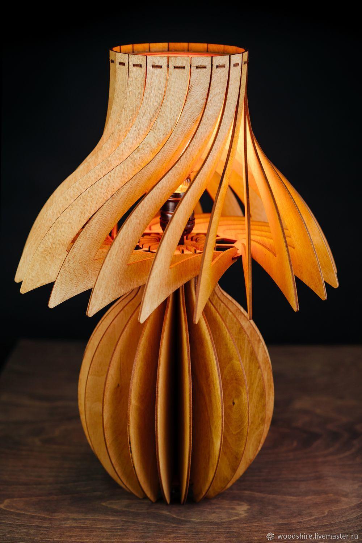 Настольный деревянный светильник Санлайт вишня, лампа из дерева, Настольные лампы, Санкт-Петербург,  Фото №1