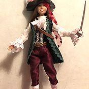 Одежда для кукол ручной работы. Ярмарка Мастеров - ручная работа Одежда для Барби: костюм Пиратки для Барби. Handmade.