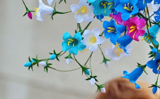 """Цветы ручной работы. Ярмарка Мастеров - ручная работа. Купить Букет """"Колокольчики"""".. Handmade. Бирюзовый, луговые цветы, интерьерная композиция"""
