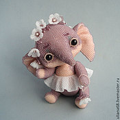 Куклы и игрушки ручной работы. Ярмарка Мастеров - ручная работа Бисерная слоня КапризУлька. Handmade.
