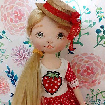 Куклы и игрушки ручной работы. Ярмарка Мастеров - ручная работа Вероника.Текстильная куколка. Handmade.