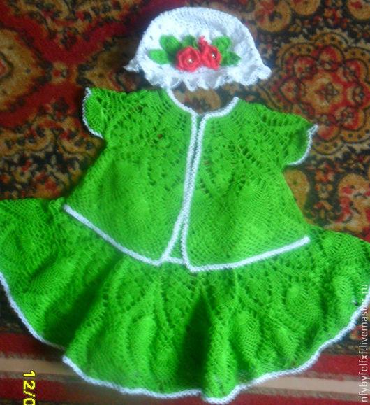Одежда для девочек, ручной работы. Ярмарка Мастеров - ручная работа. Купить Костюмчик для девочки.. Handmade. Зеленый, вяжу на заказ, красота