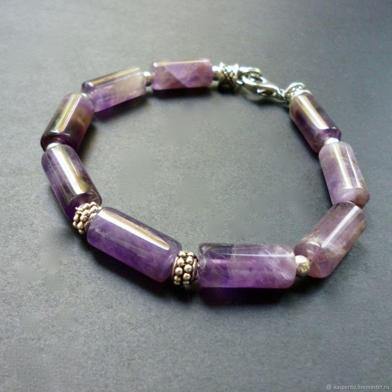 Pulsera amatista natural (unisex), Bead bracelet, Moscow,  Фото №1