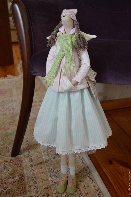Куклы Тильды ручной работы. Ярмарка Мастеров - ручная работа. Купить Ангел Маруся. Handmade. Тильда ангел, комбинированный, пряжа