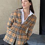 Одежда handmade. Livemaster - original item Jacket model at the waist in a sand cage. Handmade.