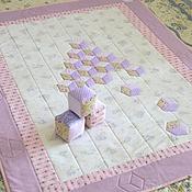 """Для дома и интерьера ручной работы. Ярмарка Мастеров - ручная работа Плед """" Пирамидка с кубиками"""". Handmade."""
