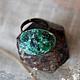 """Кольца ручной работы. Ярмарка Мастеров - ручная работа. Купить Кольцо """"Дух Малахита"""". Handmade. Зеленый, камень талисман амулет"""