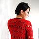 """Пиджаки, жакеты ручной работы. Ярмарка Мастеров - ручная работа. Купить Жакет """"lady in red"""". Handmade. Ярко-красный"""