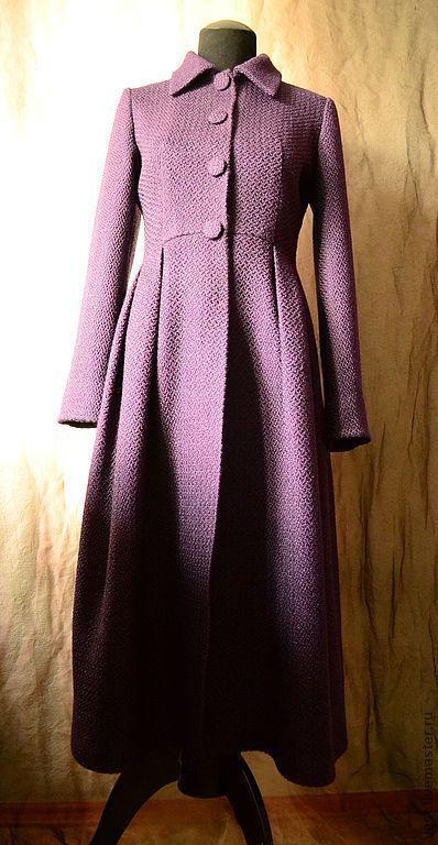 """Верхняя одежда ручной работы. Ярмарка Мастеров - ручная работа. Купить Платье-пальто""""Виола"""". Handmade. Тёмно-фиолетовый, осень"""