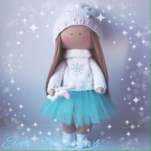Коллекционные куклы ручной работы. Ярмарка Мастеров - ручная работа. Купить Зимняя девочка. Handmade. Интерьерная кукла, новогодний декор